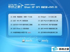 系统之家WinXP v2020.03  内部装机版