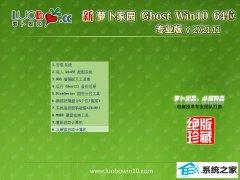 萝卜家园win10 64位 免激活汉化豪华版v2021.11
